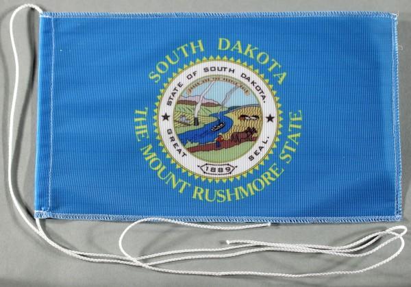 Tischflagge South Dakota USA Bundesstaat US State 25x15 cm optional mit Holz- oder Chromständer Tisc