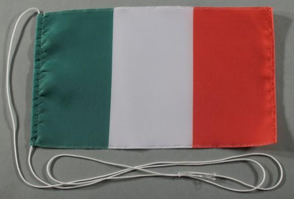 Tischflagge Italien 25x15 cm optional mit Holz- oder Chromständer Tischfahne Tischfähnchen