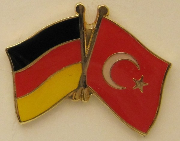 Türkei / Deutschland Freundschafts Pin Anstecker Flagge Fahne Nationalflagge