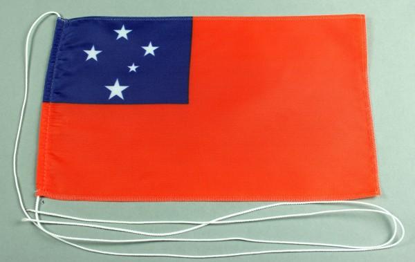 Tischflagge West Samoa 25x15 cm optional mit Holz- oder Chromständer Tischfahne Tischfähnchen
