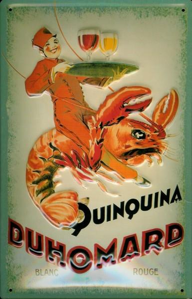 Blechschild Quinquina Duhomard Wein mit Hummer Lobster Schild