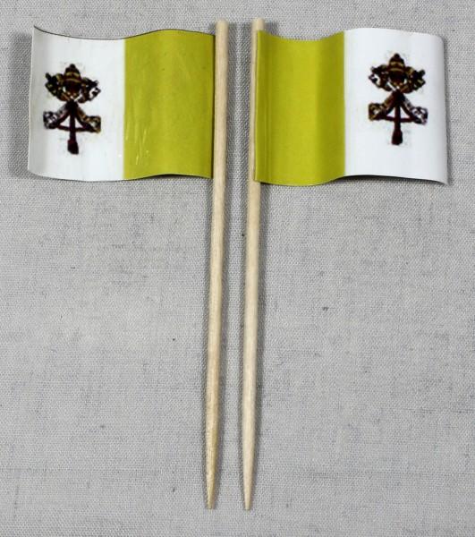 Party-Picker Flagge Vatikan Papst Papierfähnchen in Spitzenqualität 50 Stück Beutel