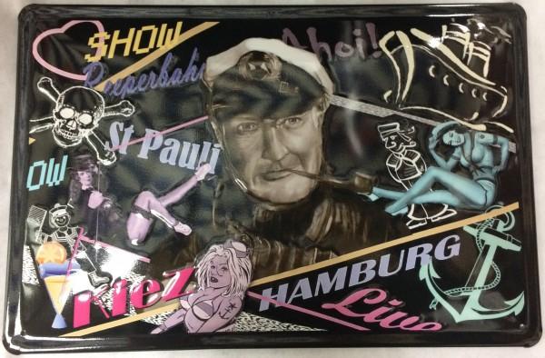 Blechschild Hamburg Reeperbahn Kiez St. Pauli Hans Albers Schild Filmplakat