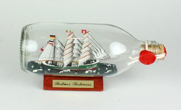 Rickmer Rickmers runde Flasche 0,3 Liter Buddelschiff Flaschenschiff
