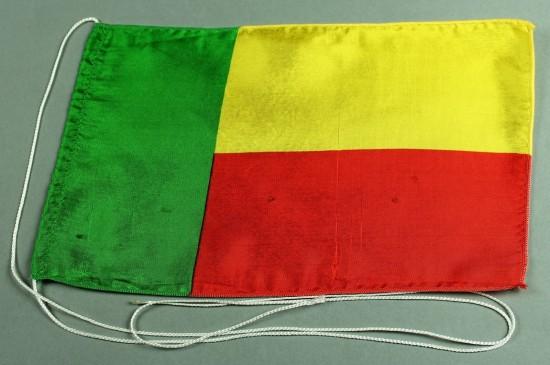 Tischflagge Benin 25x15 cm optional mit Holz- oder Chromständer Tischfahne Tischfähnchen