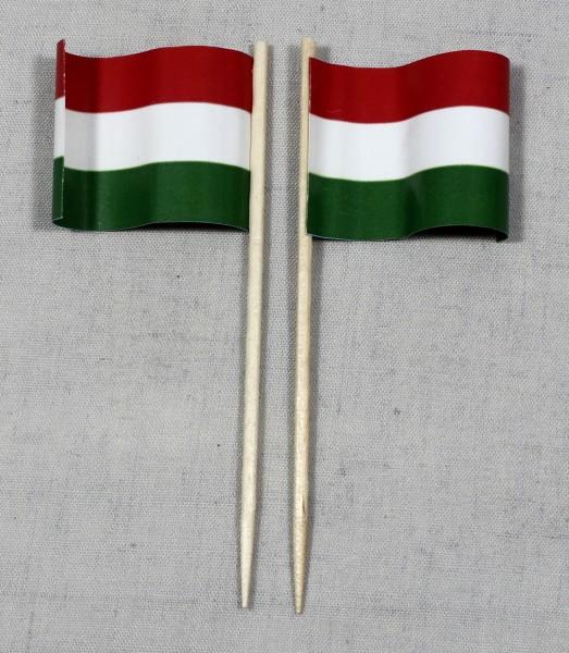 Party-Picker Flagge Ungarn Papierfähnchen in Spitzenqualität 50 Stück Beutel