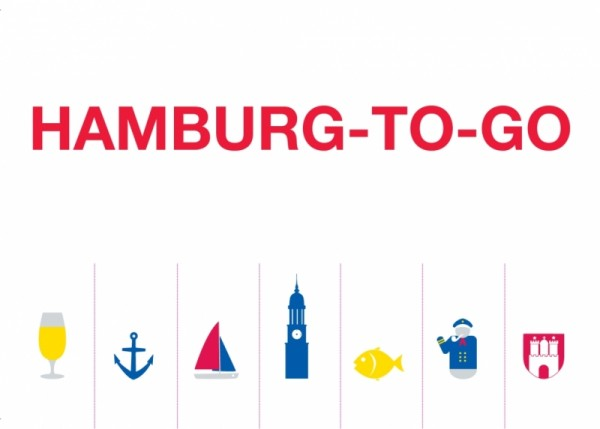 Postkarte Hamburg-to-go