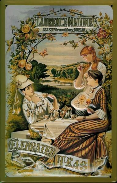Blechschild Laurence Mallone Tea Tee retro Schild Nostalgieschild