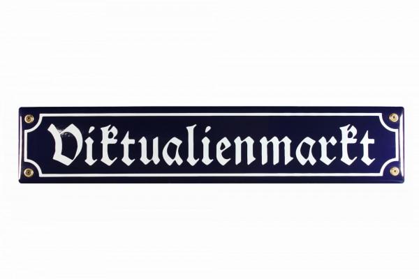 Strassenschild Viktualienmarkt 40x8 cm München Souvenir Email Strassen Schild Emaille