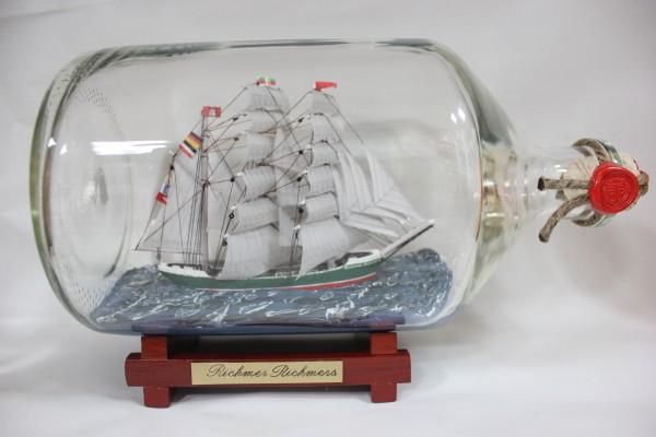 Rickmer Rickmers 2 Liter Apothekerflasche Buddelschiff Flaschenschiff