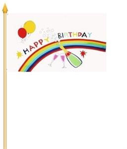 Stockflagge Happy Birthday Geburtstag 30x45cm