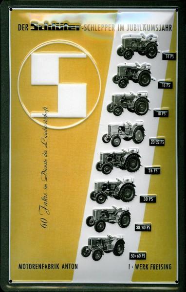 Blechschild Schlüter Traktoren Jubiläumsjahr Traktor Schild Nostalgieschild