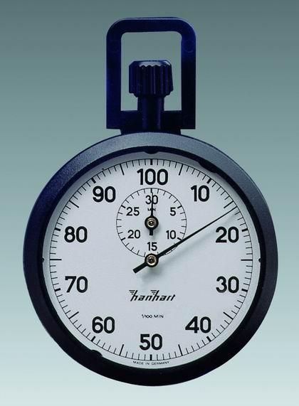 Mechanische analog Kronen Stoppuhr Hanhart ABS 1/100 min 30 min