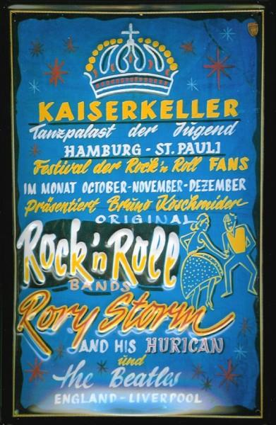 Blechschild Nostalgieschild Kaiserkeller Hamburg St. Pauli The Beatles