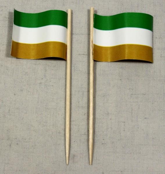 Party-Picker Flagge Kleingarten Schrebergarten Papierfähnchen in Spitzenqualität 50 Stück Beutel