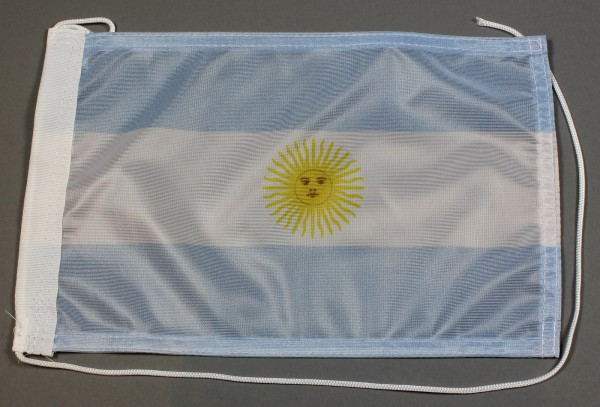 Bootsflagge : Argentinien 30x20 cm Motorradflagge
