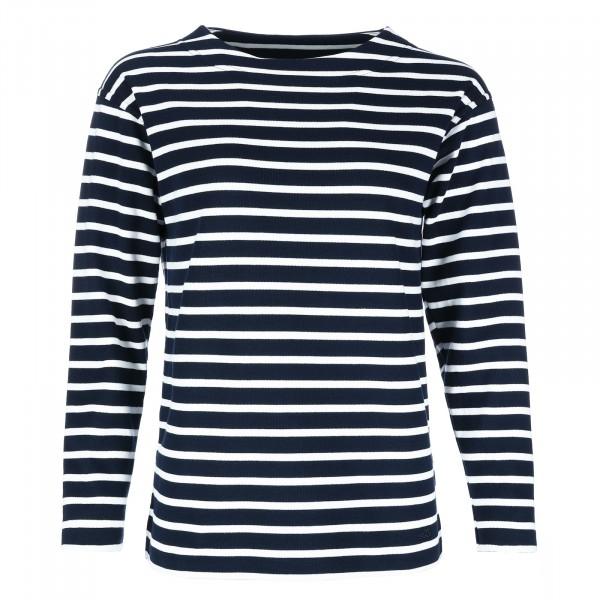 Bretonisches Damen Fischerhemd Langarm gestreift