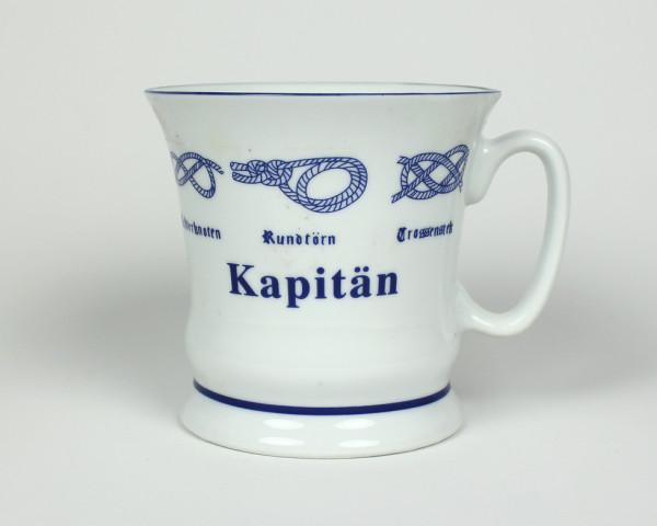 """""""Kapitän"""" Pott mit Seemannsknoten hoch Kaffeebecher Kaffeetasse Kaffee Teepott Tasse Becher"""
