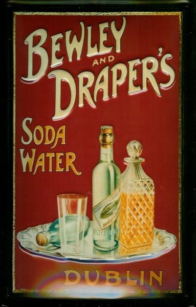Blechschild Bewley and Draper's Soda Water retro Schild Mineralwasser Werbeschild