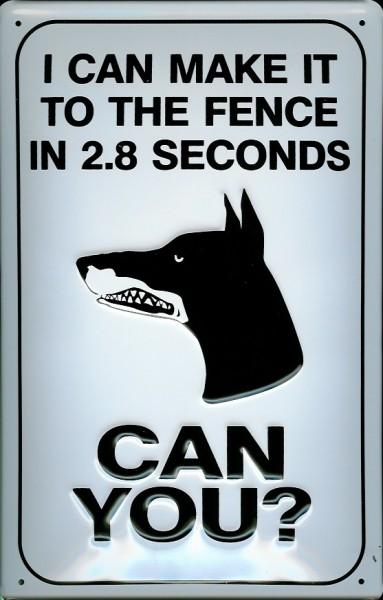 Blechschild Wachhund Zaun Dog Fence Hund Warnschild Schild Funschild