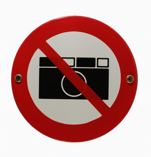 Emaille Schild Fotografieren Kamera verboten Emailleschild Verbotsschild Warnschild