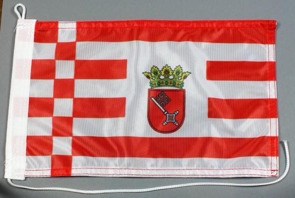 Bootsflagge : Bremen 30x20 cm Motorradflagge