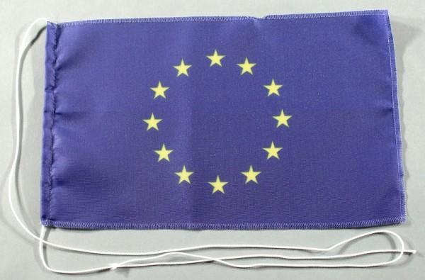 Tischflagge Europa Europarat Europaflagge 25x15 cm optional mit Holz- oder Chromständer Tischfahne T