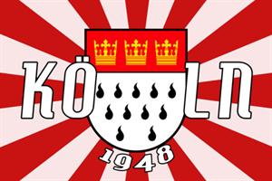 Flagge Fahne Köln 1948 Stadtflagge