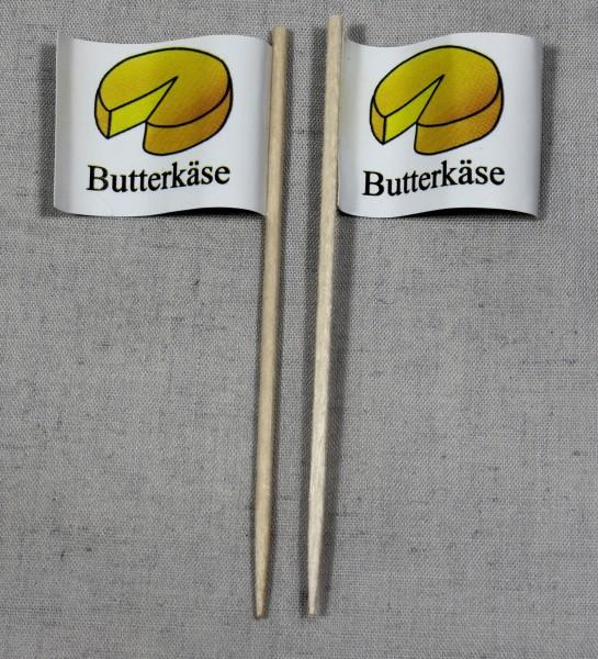 Party-Picker Flagge Butterkäse Papierfähnchen in Spitzenqualität 50 Stück Beutel