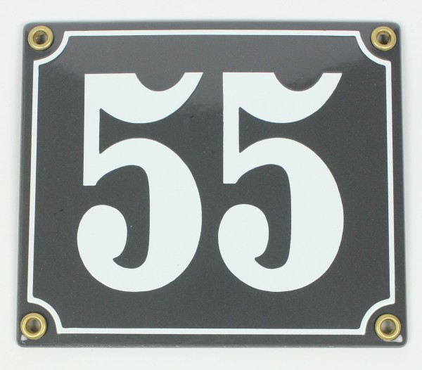 2-stelliges Wetterfestes Emaille Hausnummernschild mit Wunschzahl Wunschtext Buchstaben 14x12 cm