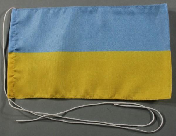 Tischflagge Ukraine 25x15 cm optional mit Holz- oder Chromständer Tischfahne Tischfähnchen