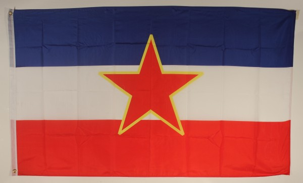 Flagge Fahne : Jugoslawien mit Stern Jugoslawienflagge Nationalflagge Nationalfahne