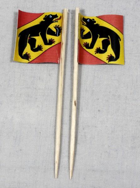 Party-Picker Flagge Bern Kanton Schweiz Papierfähnchen in Spitzenqualität 50 Stück Beutel
