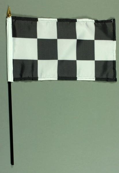 Tischflagge Zielflagge Ziel Flagge 15x25 cm BASIC optional mit Tischflaggenständer