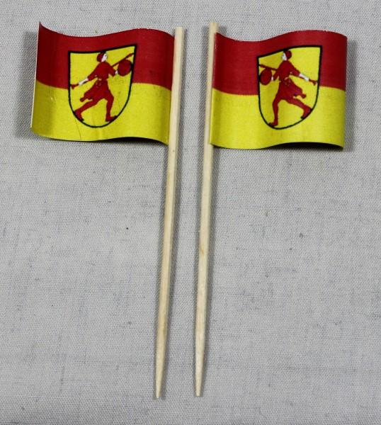Party-Picker Flagge Wilhelmshaven Papierfähnchen in Spitzenqualität 50 Stück Beutel