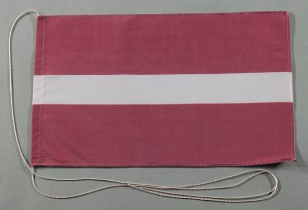 Tischflagge Lettland 25x15 cm optional mit Holz- oder Chromständer Tischfahne Tischfähnchen