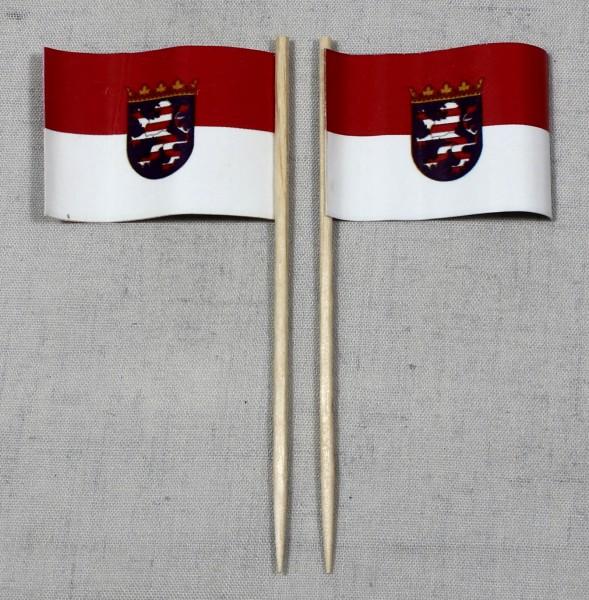 Party-Picker Flagge Hessen Papierfähnchen in Spitzenqualität 50 Stück Beutel