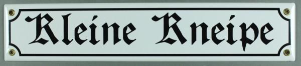 Strassenschild Kleine Kneipe 40x8 cm Türschild Kneipenschild Email Strassen Schild Emaille