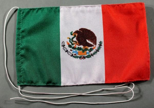 Tischflagge Mexiko 25x15 cm optional mit Holz- oder Chromständer Tischfahne Tischfähnchen