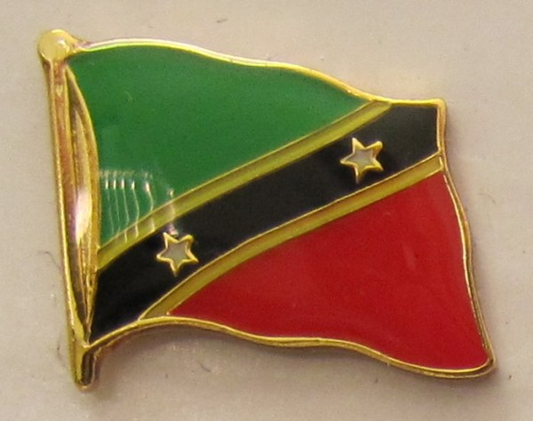 Pin Anstecker Flagge Fahne Saint Kitts Nevis Flaggenpin Button Badge Flaggen Clip Anstecknadel