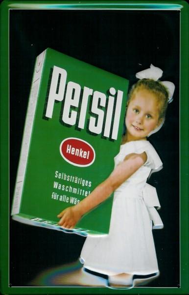 Blechschild Persil große Packung mit Kind Waschpulver Schild Werbeschild