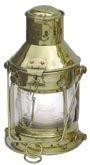 Ankerlampe Schiffslampe elektrisch 24cm Messing