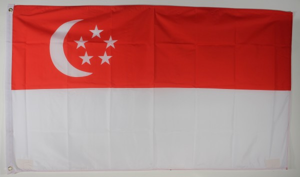 Flagge Fahne : Singapur Nationalflagge Nationalfahne
