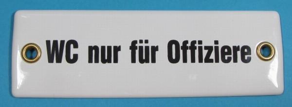Emaille Schild WC nur für Offiziere