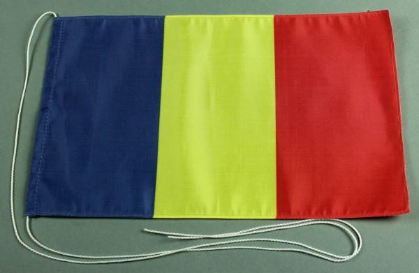 Tischflagge Tschad 25x15 cm optional mit Holz- oder Chromständer Tischfahne Tischfähnchen