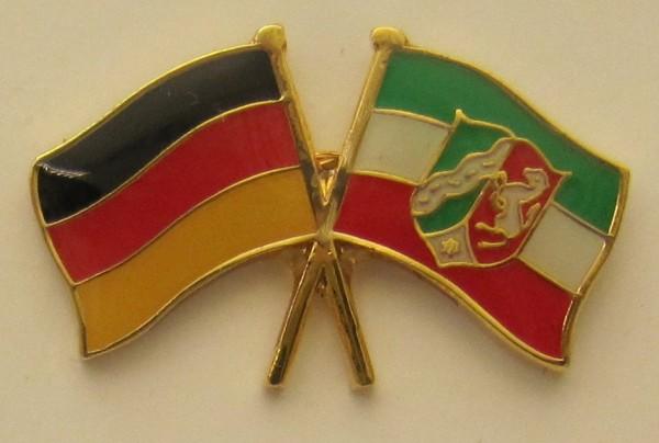 Nordrhein Westfalen / Deutschland Freundschafts Pin Anstecker Flagge Fahne Nationalflagge