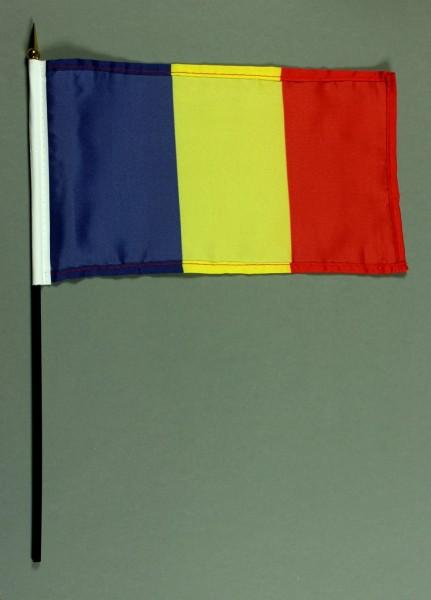 Tischflagge Rumänien 15x25 cm BASIC optional mit Tischflaggenständer