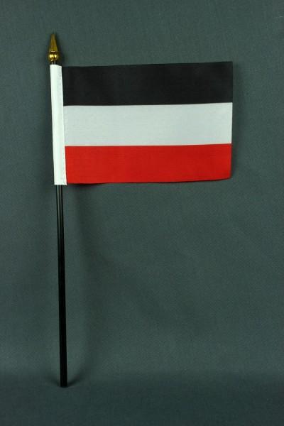 Kleine Tischflagge Deutsches Reich Kaiserflagge 10x15 cm optional mit Tischfähnchenständer