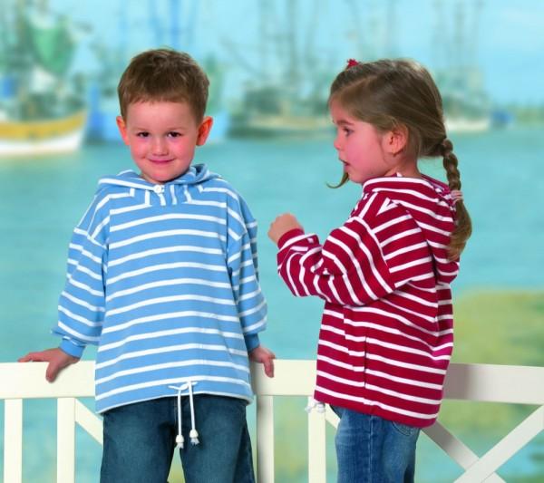 Bretonisches Kinder Kapuzenshirt von Modas Kapuzenhemd geringelt