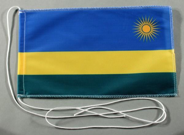 Tischflagge Ruanda neu 25x15 cm optional mit Holz- oder Chromständer Tischfahne Tischfähnchen